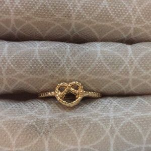 Knotted Heart Intricate Gold Plated Ring